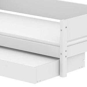Lit enfant simple 90x200cm lit gigogne WHITE Flexa blanc