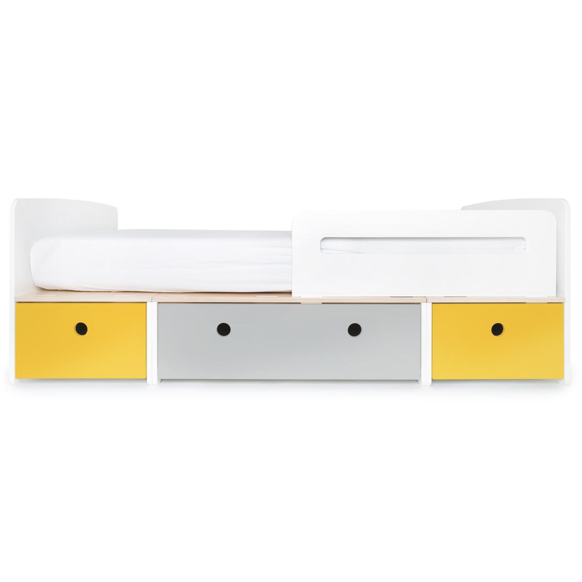 Lit évolutif 90x200cm COLORFLEX Abitare Kids nectar yellow-pearl grey-nectar yellow