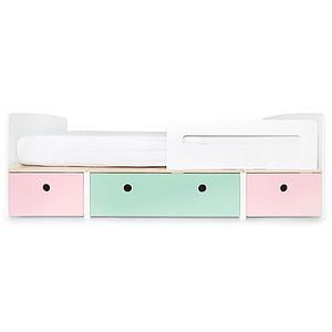 Lit évolutif 90x200cm COLORFLEX Abitare Kids sweet pink-mint-sweet pink