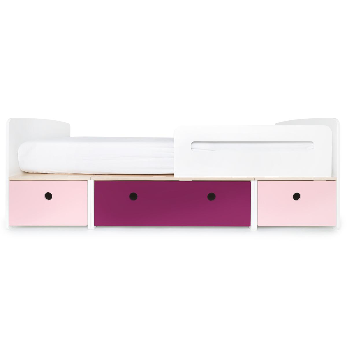 Lit évolutif 90x200cm COLORFLEX Abitare Kids sweet pink-plum-sweet pink