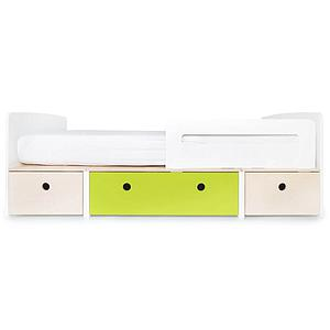 Lit évolutif 90x200cm COLORFLEX Abitare Kids white wash-lime-white wash