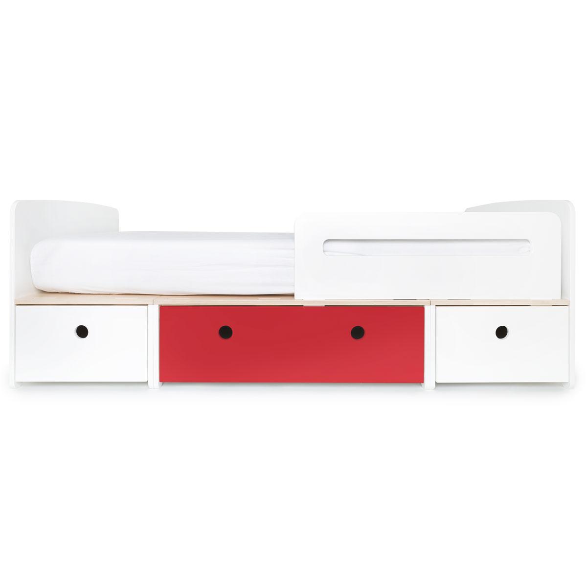 Lit évolutif 90x200cm COLORFLEX white-true red-white