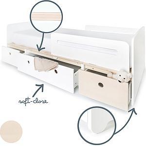 Lit évolutif 90x200cm COLORFLEX white-white-white wash