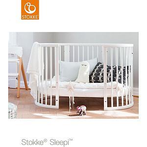 Lit évolutif bébé 120cm SLEEPI Stokke blanc