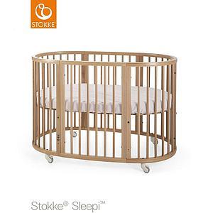 Lit évolutif bébé 120cm SLEEPI Stokke naturel