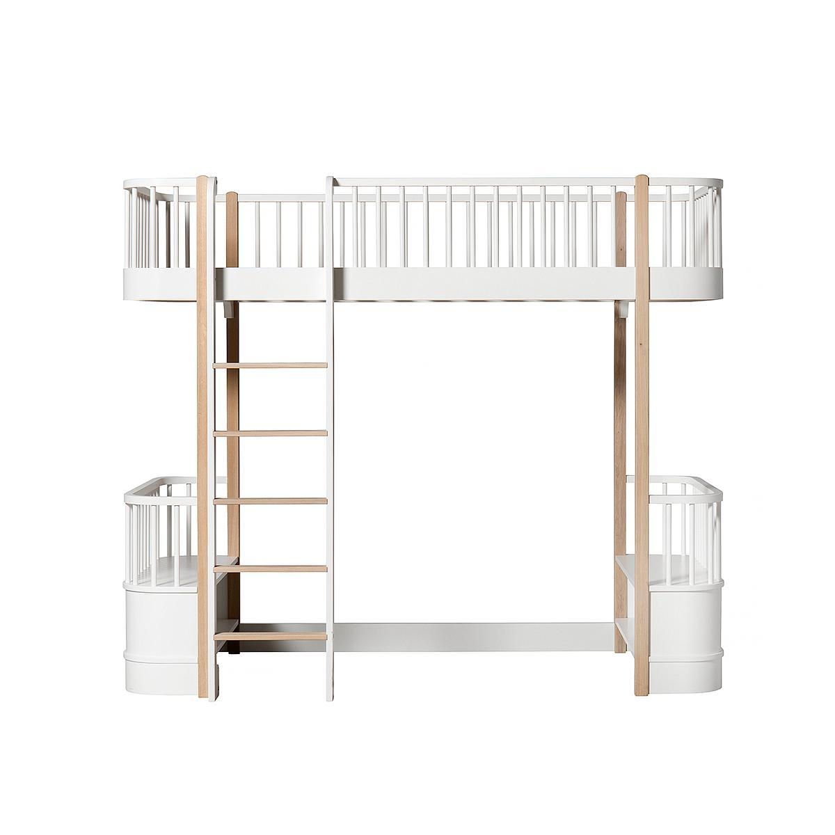Lit évolutif mezzanine 90x200cm WOOD ORIGINAL Oliver Furniture blanc-chêne