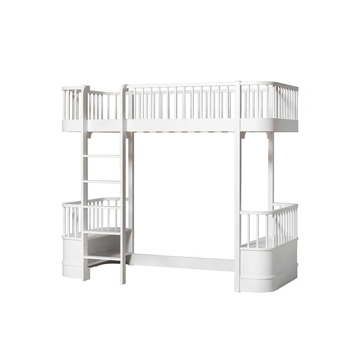Lit évolutif mezzanine 90x200cm WOOD ORIGINAL Oliver Furniture blanc