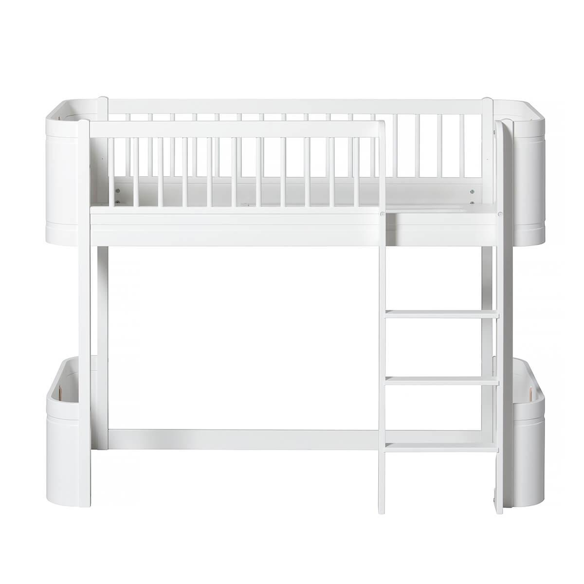 Lit évolutif mi hauteur 68x162cm MINI+ WOOD Oliver Furniture blanc