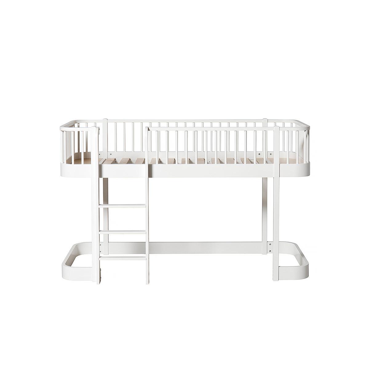 Lit évolutif mi hauteur 90x200cm WOOD ORIGINAL Oliver Furniture blanc