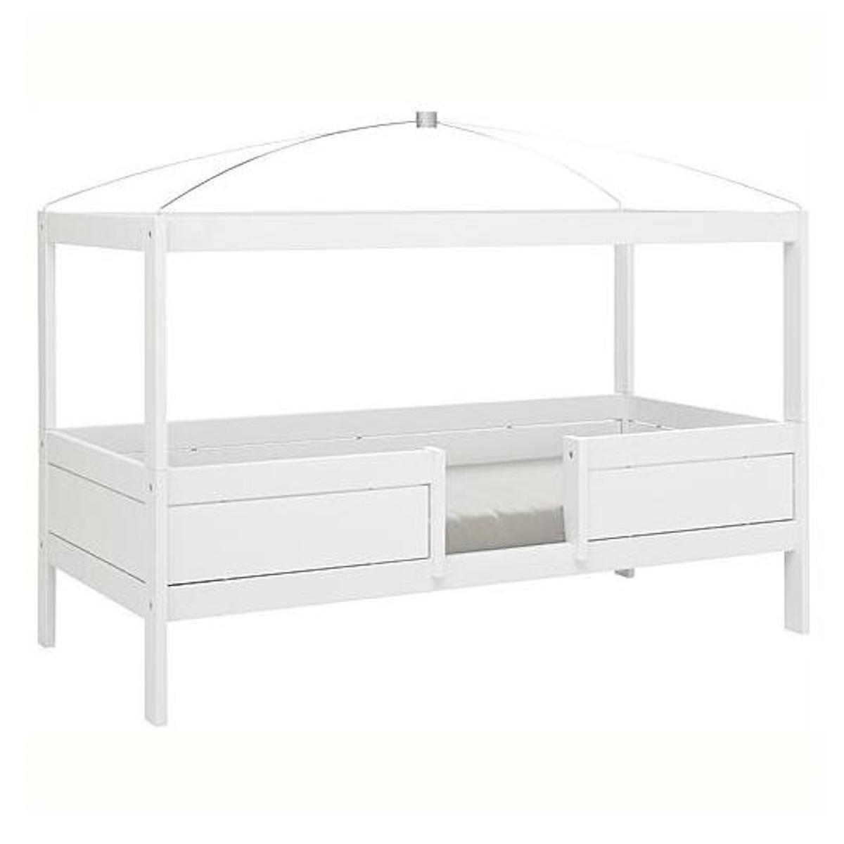 Lit évolutif-toit-rond 90x200cm 4 EN 1 Lifetime blanc