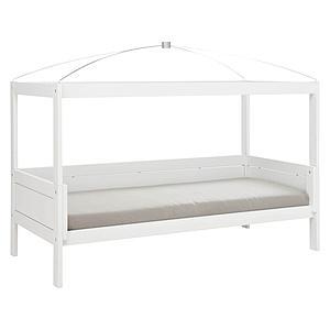 Lit évolutif-toit-rond 90x200cm sommier LUXE 4 EN 1 Lifetime blanc