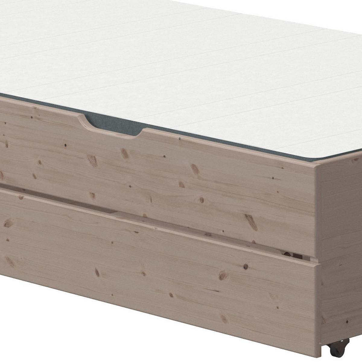 Lit gigogne-2 tiroirs 200cm CLASSIC Flexa terra
