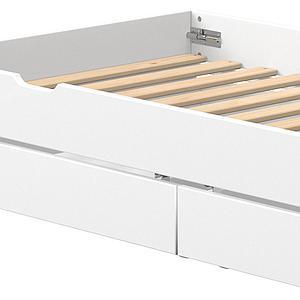 Lit gigogne-2 tiroirs 90x190cm WHITE Flexa blanc-blanc