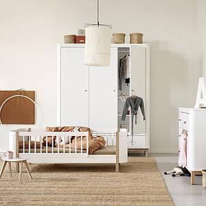 Lit junior 68x162cm WOOD MINI+ Oliver Furniture chêne-blanc