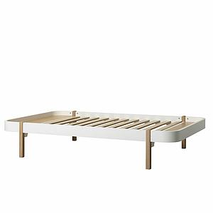 Lit Lounger 120cm WOOD Oliver Furniture blanc-chêne