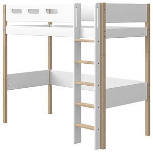 Lit mezzanine 190x90cm NOR Flexa chêne-blanc