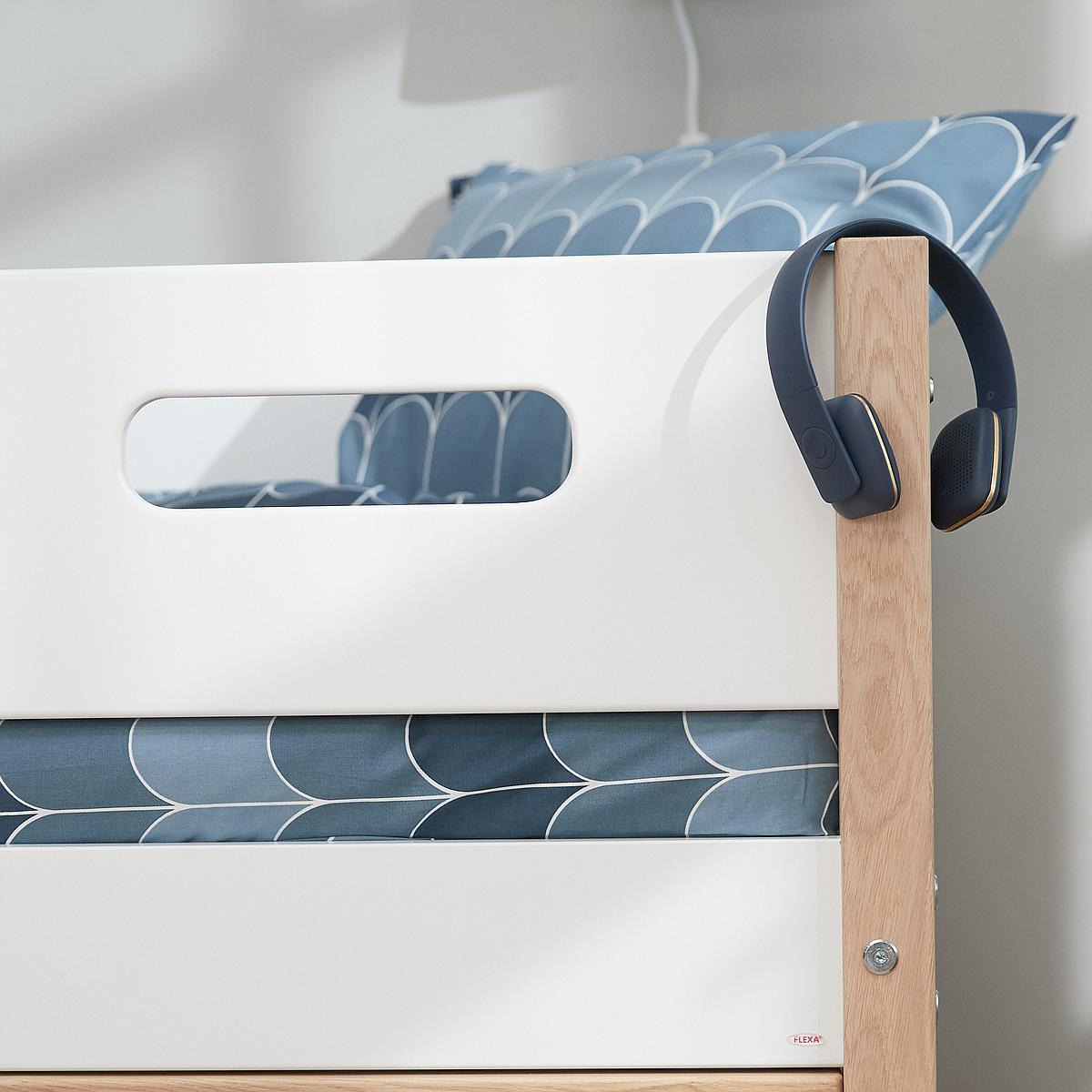Lit mezzanine 200x90cm NOR Flexa chêne-blanc