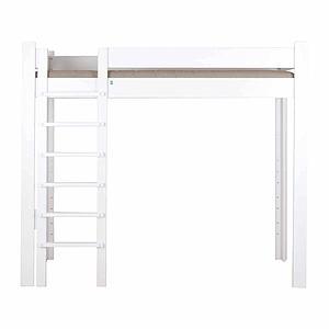 Lit mezzanine 90x200cm échelle frontal DESTYLE de Breuyn hêtre blanchi