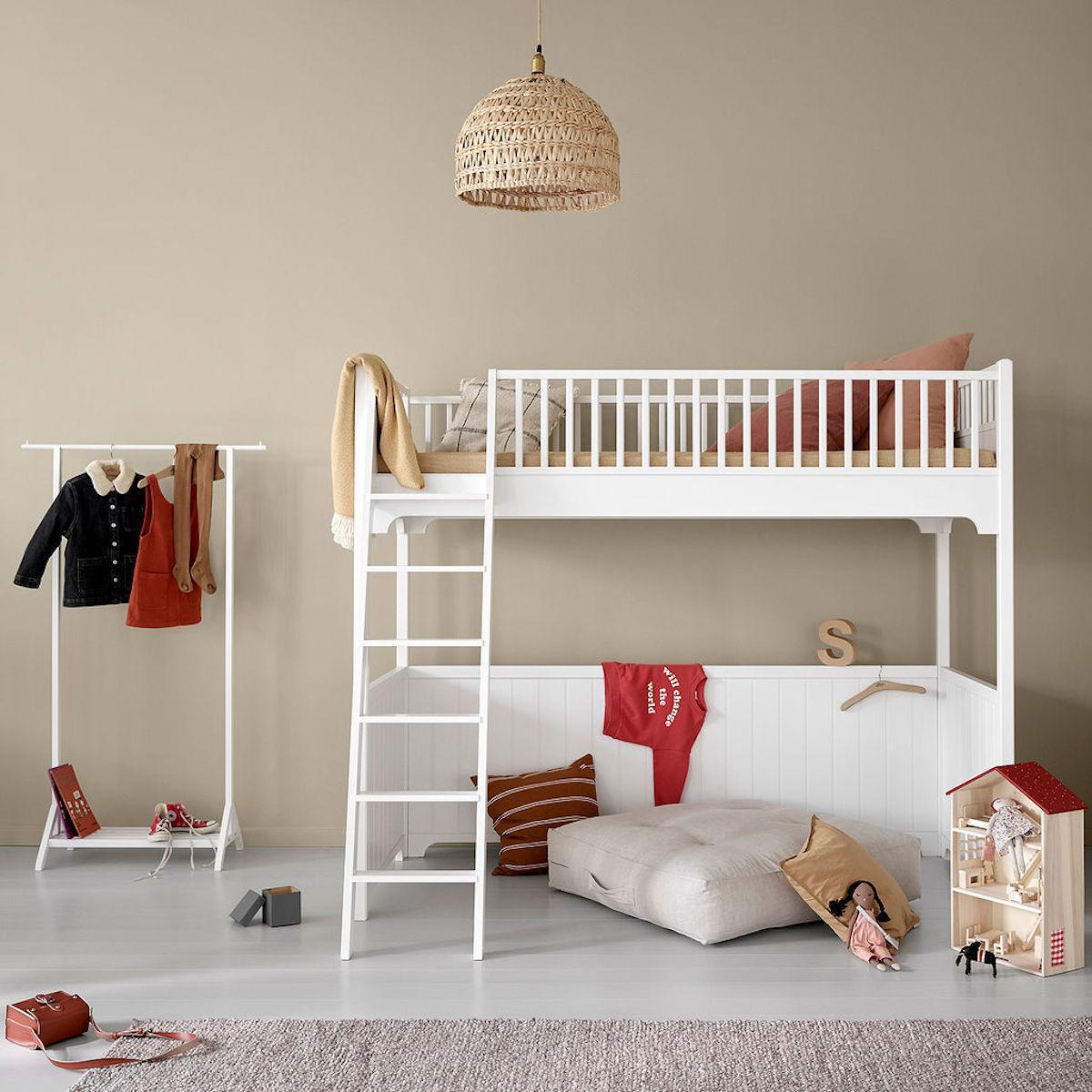 Lit mezzanine 90x200cm SEASIDE CLASSIC Oliver Furniture blanc