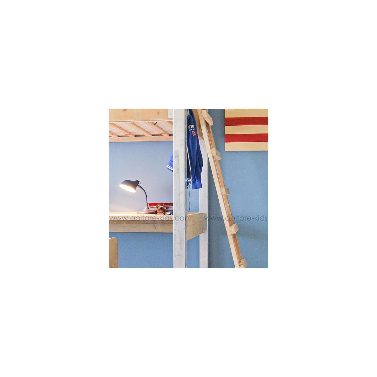 Lit mezzanine-bureau 90x200cm INDUSTRIEL Dutchwood