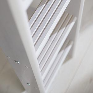 Lit mezzanine haut 140x200cm échelle droite CLASSIC Flexa grey washed