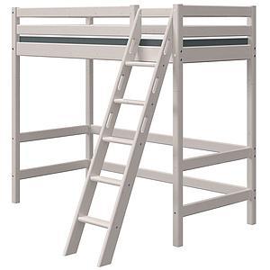 Lit mezzanine haut 90x190cm échelle inclinée CLASSIC Flexa grey washed