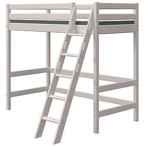 Lit mezzanine haut 90x200cm échelle inclinée CLASSIC Flexa grey washed