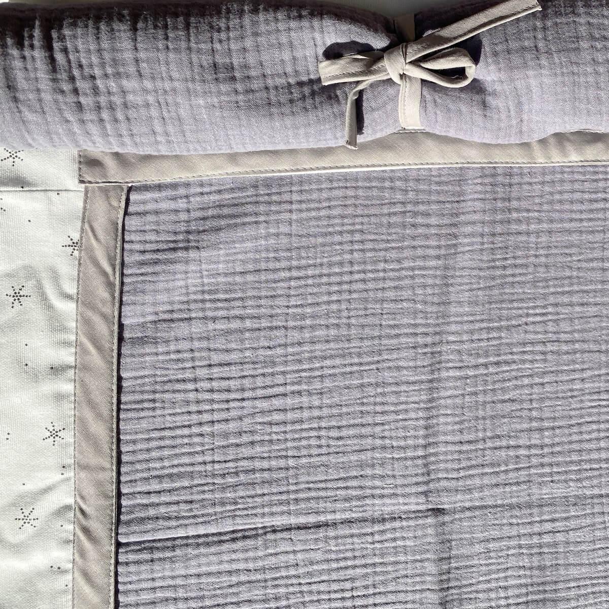 Lit mezzanine KASVA avec textiles Bobble grey