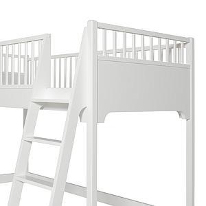 Lit mezzanine mi-haut 90x200 cm SEASIDE Oliver Furniture blanc
