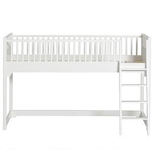 Lit mezzanine mi-haut 90x200cm SEASIDE CLASSIC Oliver Furniture blanc