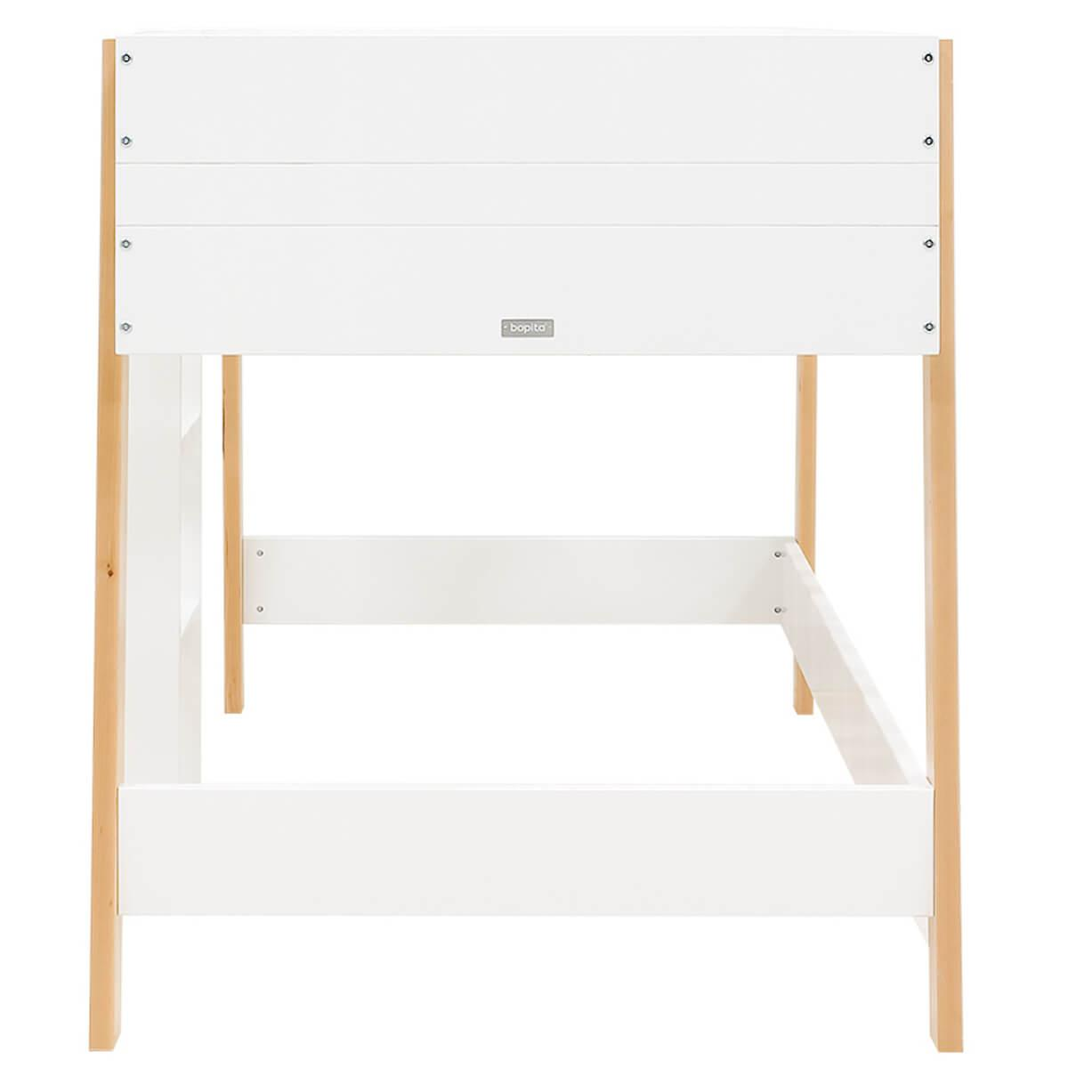 Lit mi hauteur 90x200cm LISA Bopita blanc-naturel