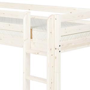 Lit mi-hauteur Classic Line 90x190 cm + échelle droite + toboggan by Flexa