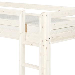 Lit mi-hauteur Classic Line 90x200 cm + échelle droite + toboggan by FLEXA