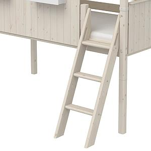 Lit mi hauteur évolutif cabane 90x200cm 1/2 PLAY HOUSE CLASSIC Flexa blanc