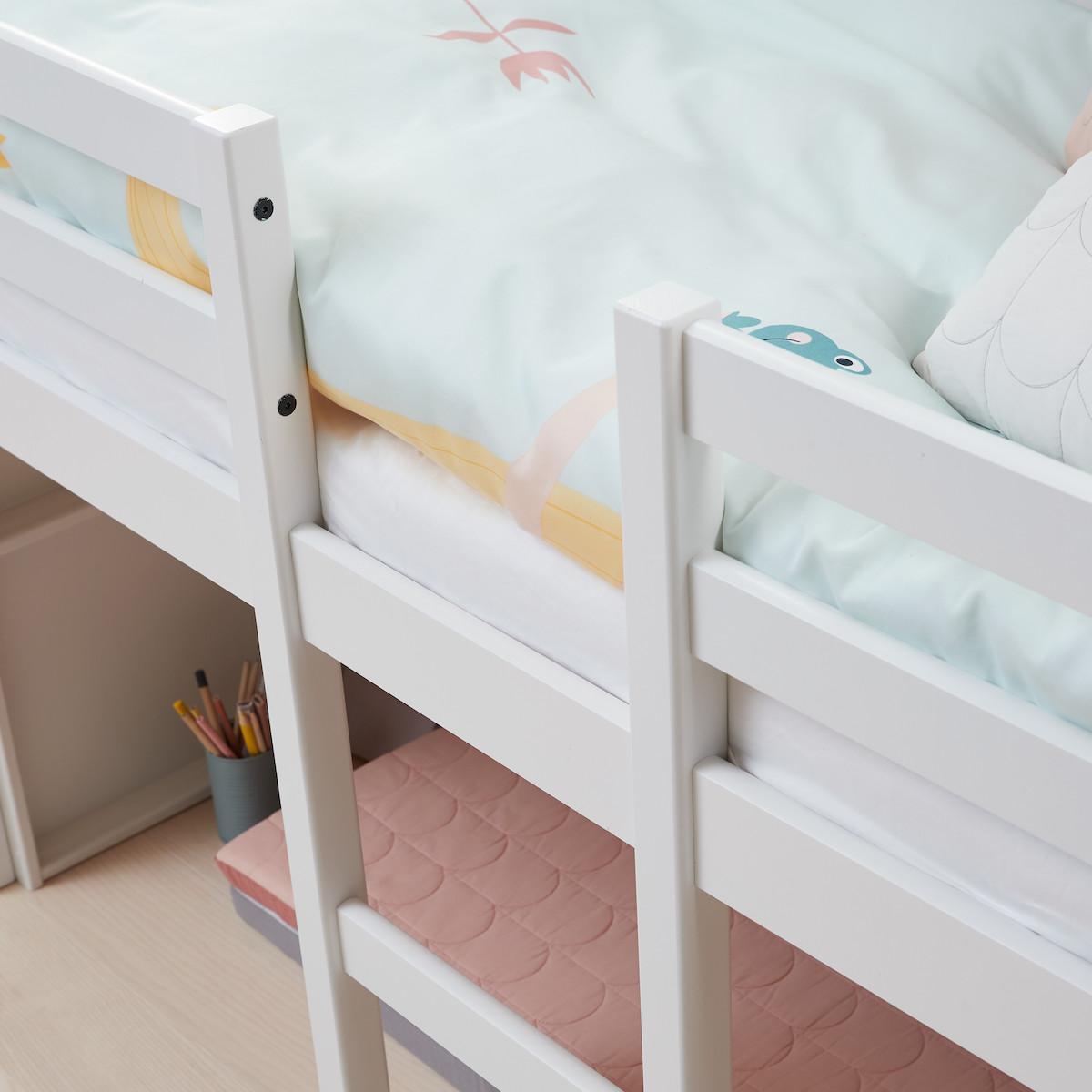 Lit mi hauteur junior 160x70cm tête de lit ALFRED Flexa full white