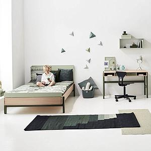Lit simple 140x200cm POPSICLE Flexa chêne-kiwi