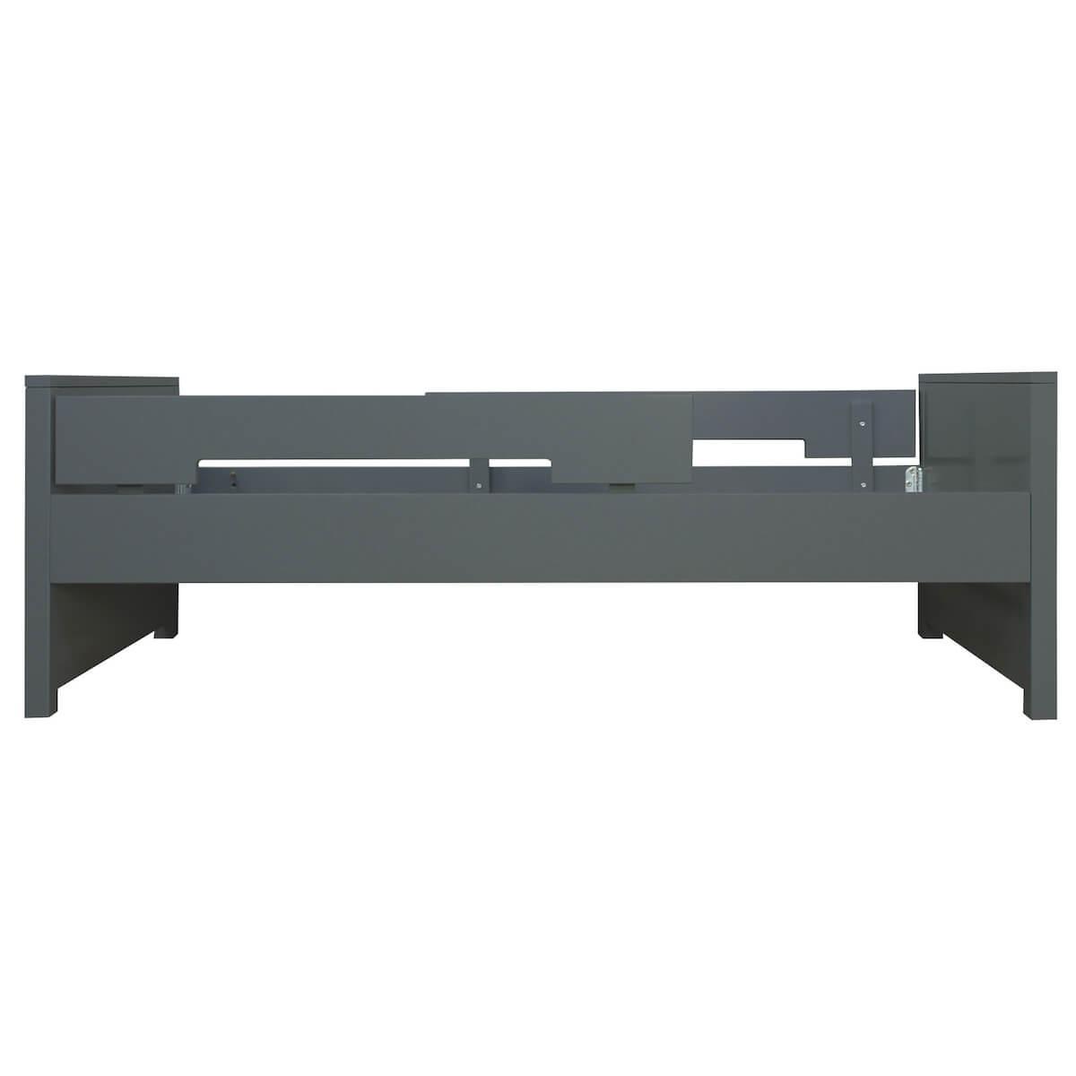 Lit simple 90x200cm JONNE MIX & MATCH Bopita deep grey