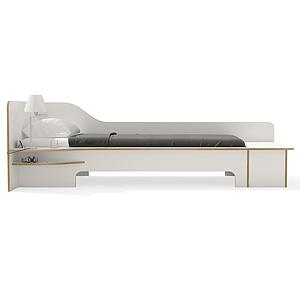 Lit simple 90x200cm sommier version gauche PLANE Mueller blanc