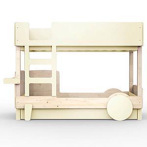 Lit superposé 90x190cm DISCOVERY Mathy by Bols beige ivoire