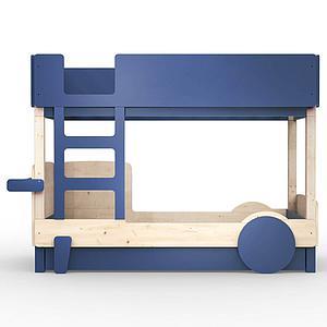 Lit superposé 90x190cm DISCOVERY Mathy by Bols bleu atlantic