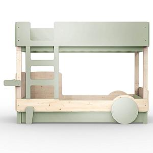 Lit superposé 90x190cm DISCOVERY Mathy by Bols gris mousse