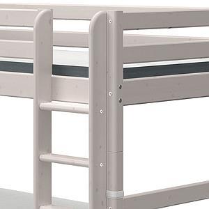 Lit superposé 90x190cm échelle droite 2 tiroirs CLASSIC grey washed
