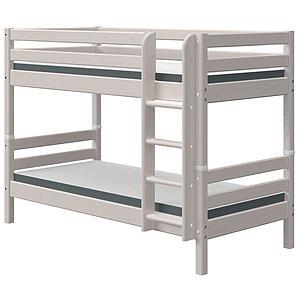Lit superposé 90x190cm échelle droite CLASSIC grey washed