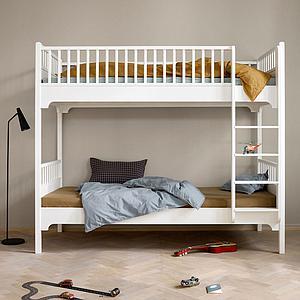 Lit superposé 90x200 cm avec échelle verticale SEASIDE CLASSIC Oliver Furniture blanc