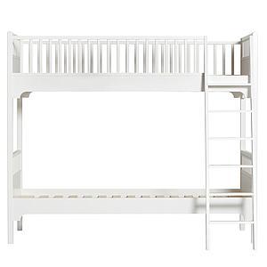 Lit superposé 90x200cm échelle inclinée SEASIDE CLASSIC Oliver Furniture blanc