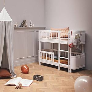 Lit superposées 68x162cm MINI+ Oliver Furniture blanc