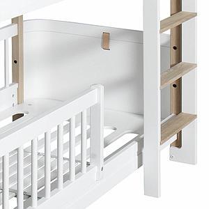 Lit superposées 68x162cm MINI+ Oliver Furniture chêne-blanc