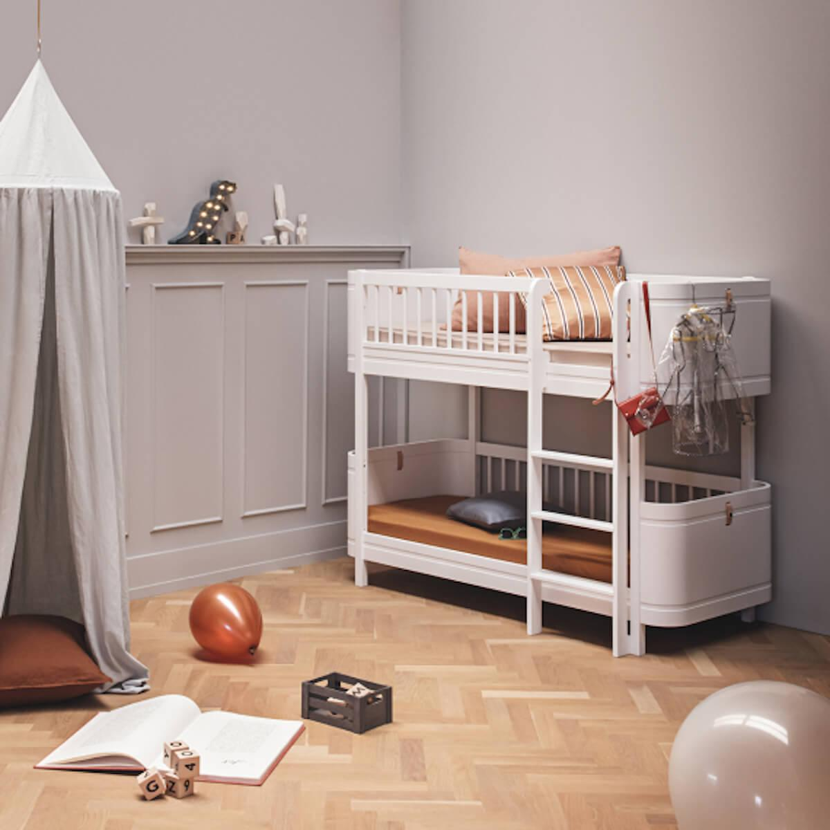 Lit superposées 68x162cm WOOD MINI+ Oliver Furniture blanc