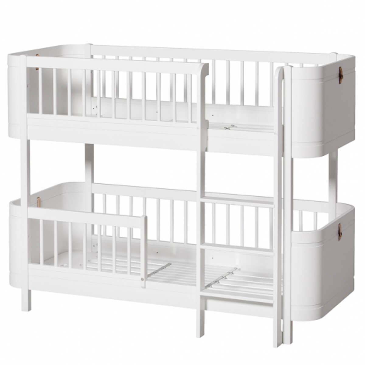 Lit superposées 68x162cm WOOD MINI+ Oliver Furniture blanc