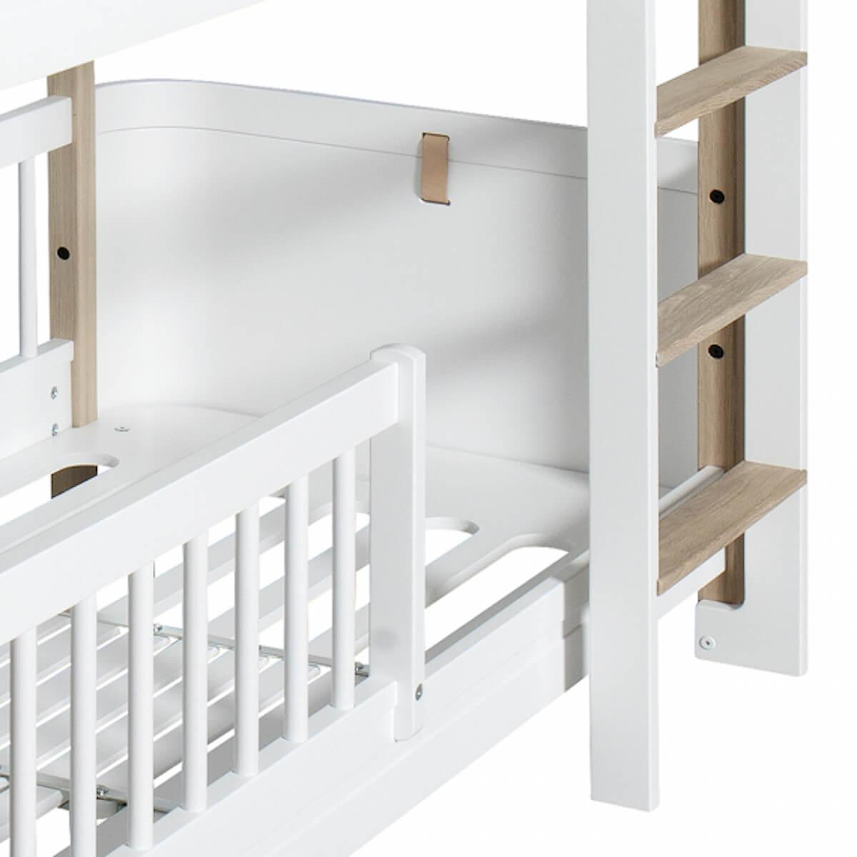 Lit superposées 68x162cm WOOD MINI+ Oliver Furniture chêne-blanc
